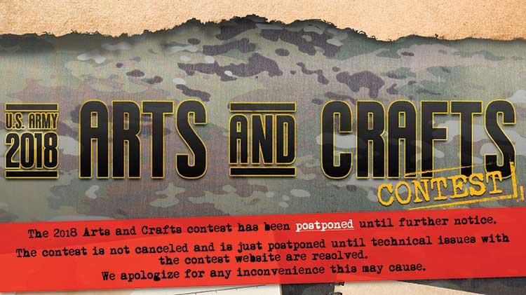 2018 Arts and Crafts contest postponement