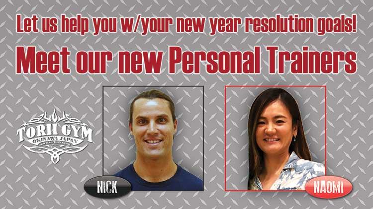 New Year, New You! Let us help you with your new year resolution goals!