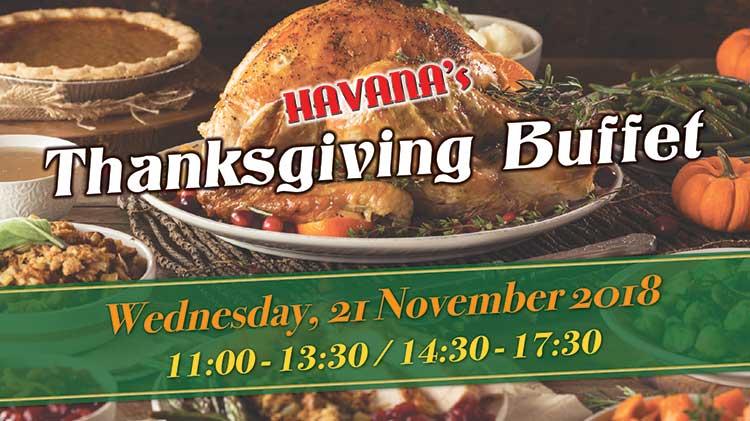 Thanksgiving Buffet at Havana's