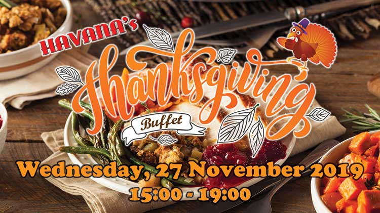 Thanksgiving Buffet at Havana's