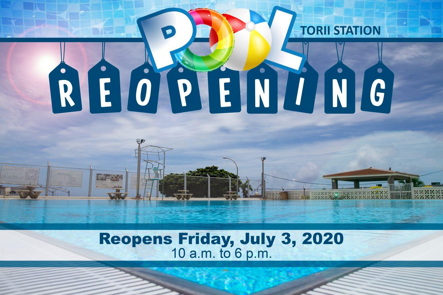Torii Pool Open Friday, July 3