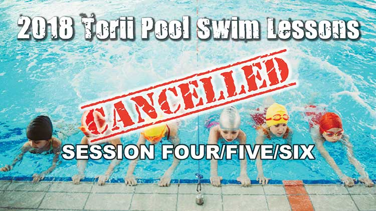 Extended Swim Lessons with Torii Pool Have Been Cancelled