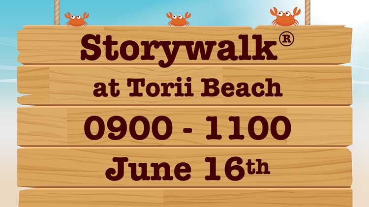 Storywalk® at Torii Beach Kickoff Event for 2018 DoD MWR Libraries' Summer Reading Program