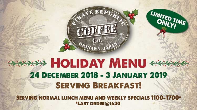 Holiday Offerings at Pirate Republic Coffee Company