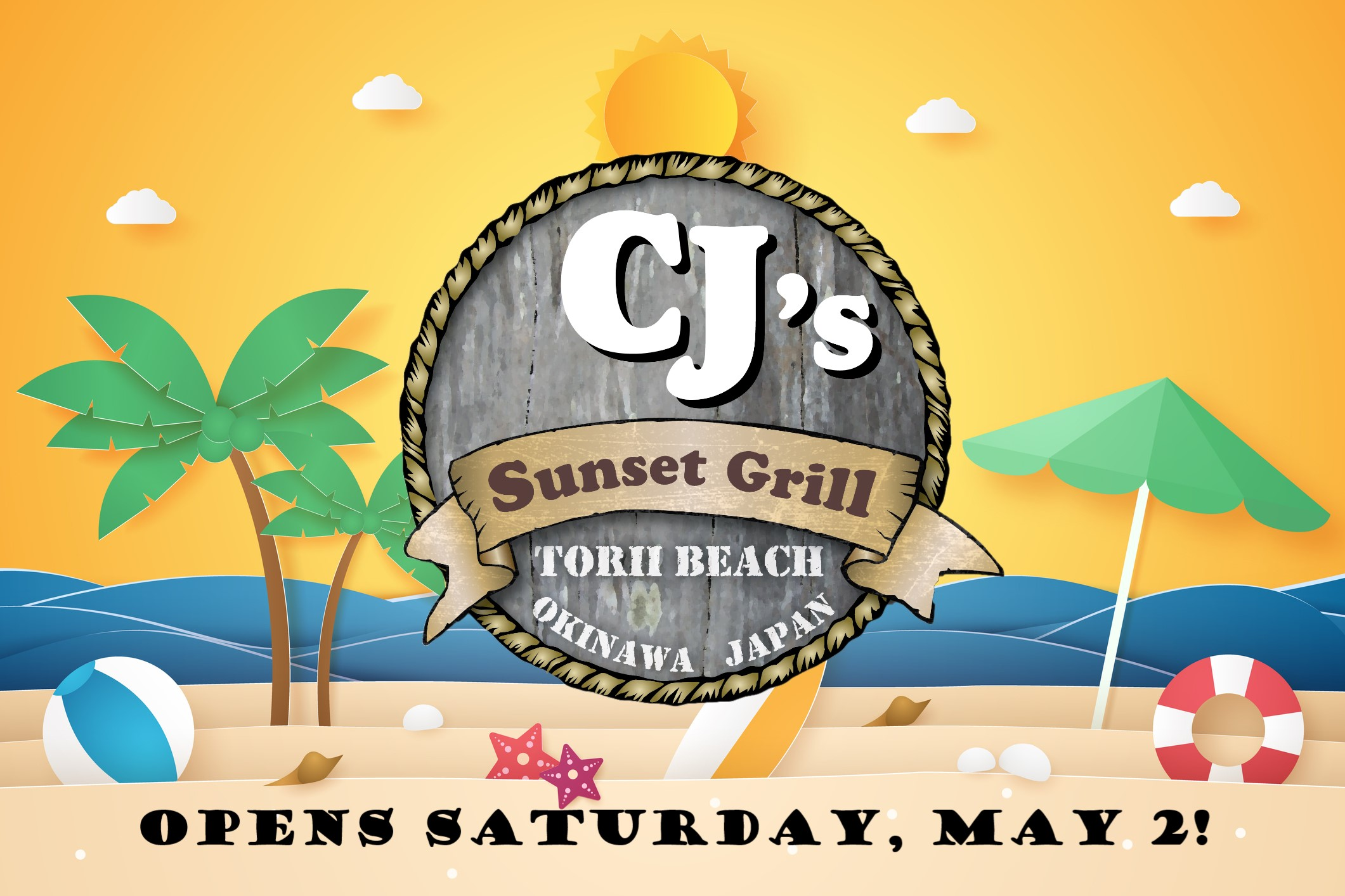 We've Got Good News!  CJ's Sunset Grill Opens May 2!