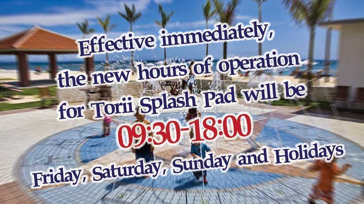 New Hours of Operation for Splash Pad at Torii Beach