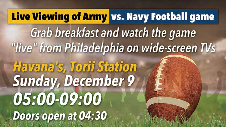 Watch the stateside Army vs. Navy Game live at Havana's!