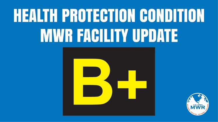 """Health Protection Condition """"B+"""" Torii MWR Facility Update"""