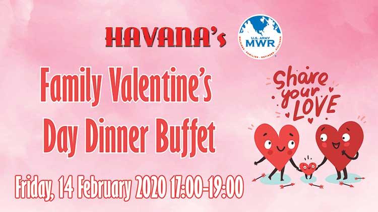 Family Valentine's Day Dinner Buffet at Havana's
