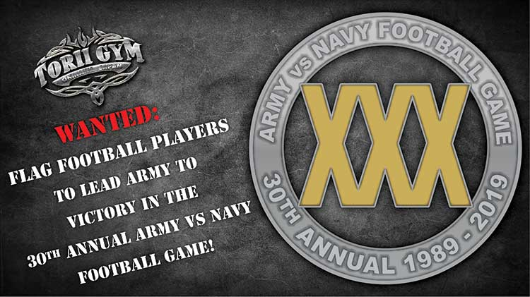 Flag Football Players Wanted To Lead Army In Victory In 30th Annual Army vs. Navy Flag Football Game