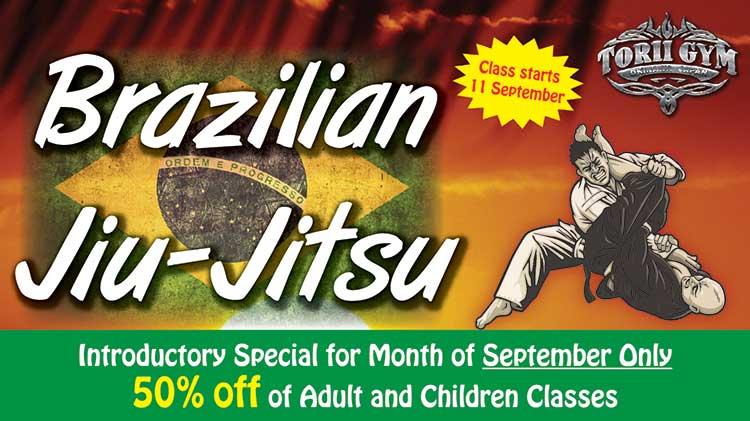 Brazilian Jiu-Jitsu Classes Now at Torii Gym